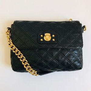 Marc Jacobs The Single Quilted Black Bag w/ Chain